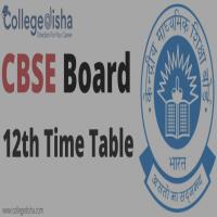 CBSE Board 12th Time Table  College Disha